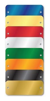 COLORED ALUMINUM TAGS 1.5 X 3 BLANK SELECT COLORS